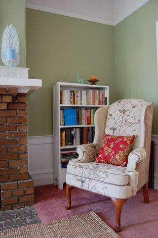 Living room reading corner
