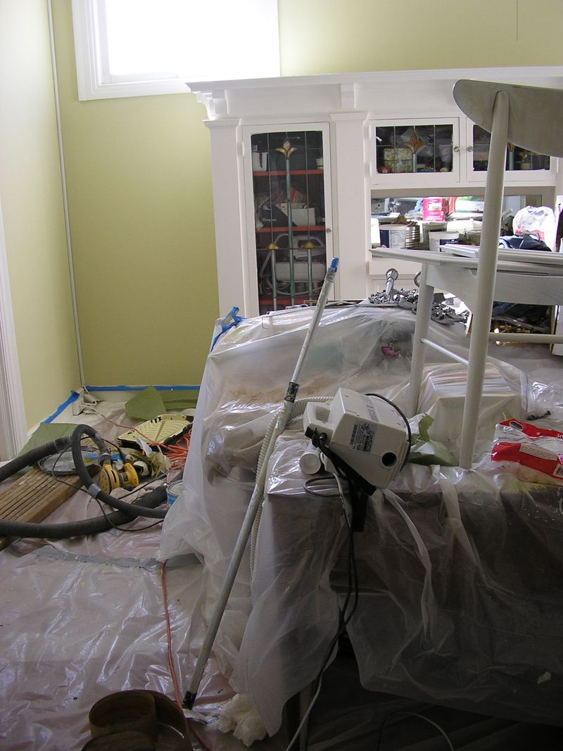 Dining room - during redo
