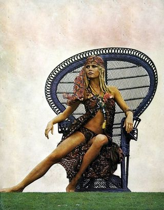 Bardot peacock chair rattan wicker